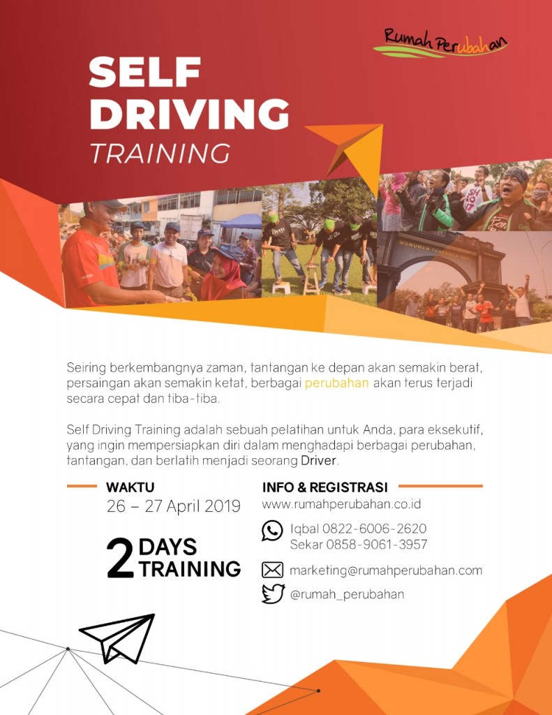 Self Driving Training for Public - 26-27 April 2019
